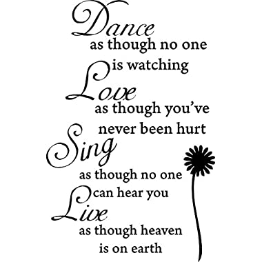 Decalgeek DG-DLS-V1 Dance Love Sing Live Wall Quotes Decal Removable Stickers Decor Vinyl Art