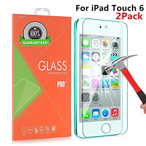 AOKER iPod Touch 6 Screen Protector, [2Pack] [Anti-scratch] 0.2mm 9H Hardness High Definition Premium Tempered Glass for Apple iPod Touch 6th, 5th Generation With Lifetime Replacement Warranty (2Pack)