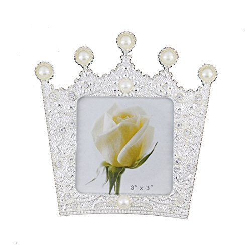 Romantic White Pearl and Crystal Family Picture Photo Frame for Home Decoration (3x3, -