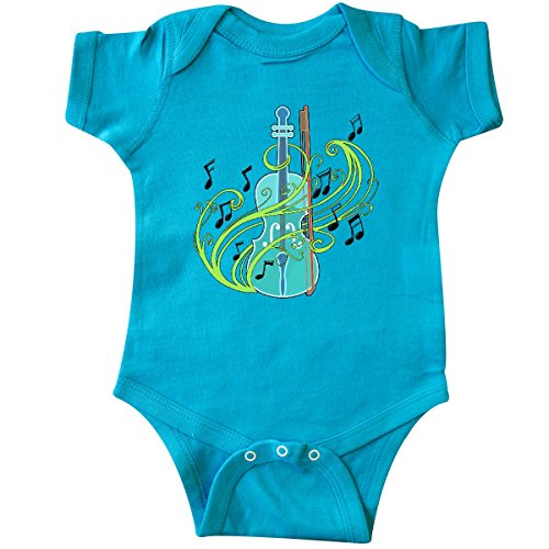 inktastic - Violin with Musical Notes Infant Creeper 6 Months Turquoise 30602