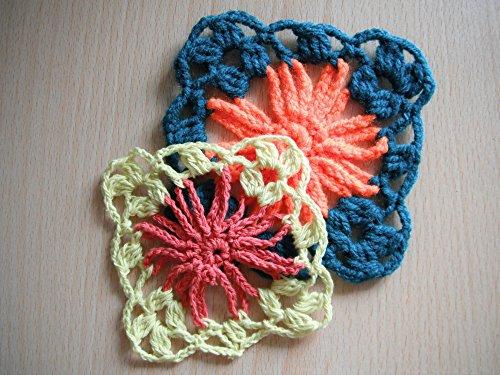 Pdf crochet pattern cone flower applique motif nr 07: pdf crochet
