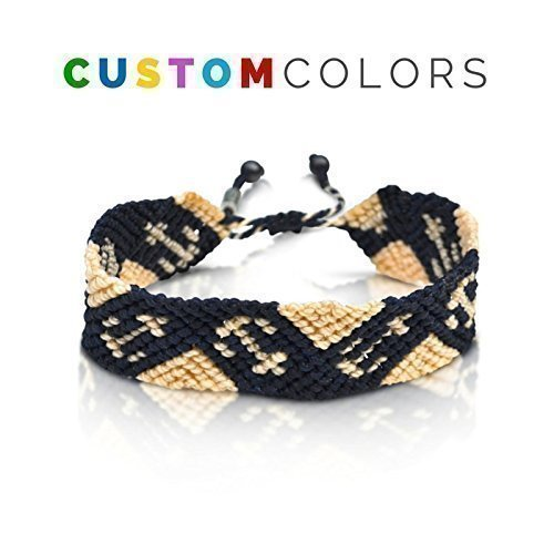 Nautical Anchor Sailor Knot Bracelet: Handmade Nylon Pull Cord Size Adjustable Bracelet for Men and Women in Custom Colors by Rumi Sumaq by Rumi Sumaq