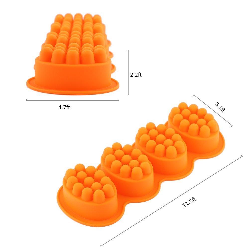 Massage BAR - Molde de silicona para jabón casero, 4 barras ...