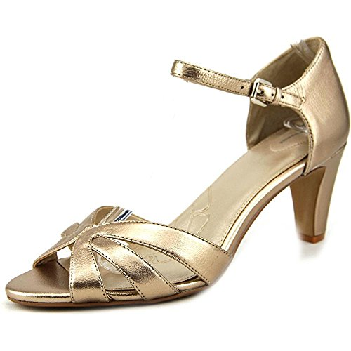 Giani Bernini - Sandalias de vestir para mujer Dorado