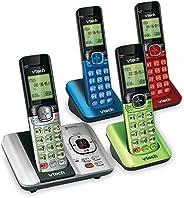 VTech CS6529-4B 4 Teléfonos inalámbrico DECT 6.0 con Sistema de Respuesta e identificador de Llamadas, Ampliab