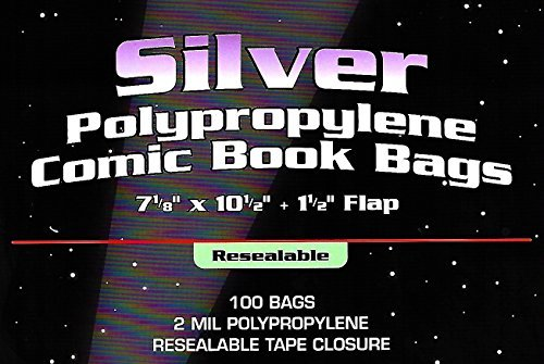 Age Bag - (100) Silver Age Resealable Clear Comic Book Bags & Backer Boards By BCW