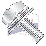 10-24X3/8 Double SEMS Screws | Narrow Flat & Split Washers | Phillips | Pan Head | 18-8 Stainless Steel (QUANTITY: 3500)
