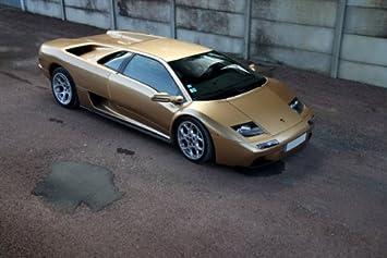 Amazon Com Lamborghini Diablo Vt Gold Right Front Hd Poster Super