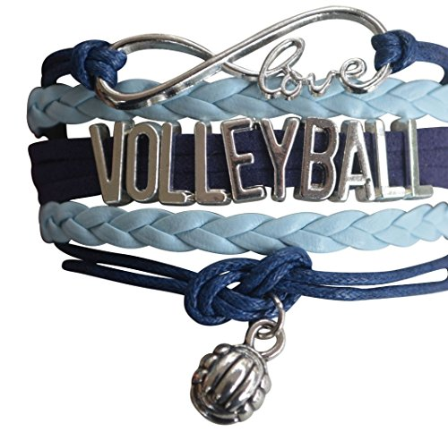 Price comparison product image Infinity Collection Volleyball Bracelet- Girls Volleyball Jewelry - Perfect Volleyball Gifts for Players