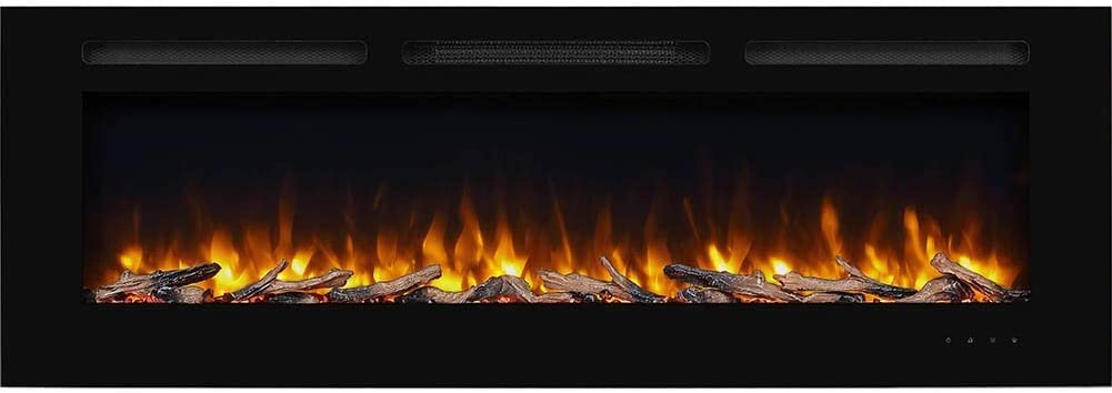 Amazon Com Puraflame Alice 60 Inches Recessed Electric Fireplace