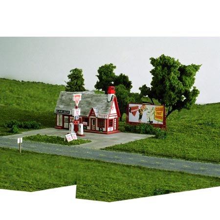 Blair Line HO Scale Kit Laser-Cut Ernie's Gas (Blair Line Ho Scale Building)