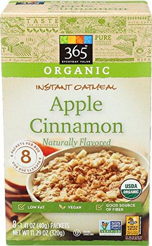Oatmeal Apple (365 Everyday Value, Organic Instant Oatmeal Apple Cinnamon, 1.41 Ounce, 8 Count)