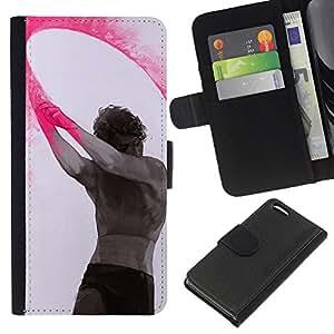 Planetar® Modelo colorido cuero carpeta tirón caso cubierta piel Holster Funda protección Para Apple iPhone 5C ( Pintura Arte Indio Holiday Hombre)