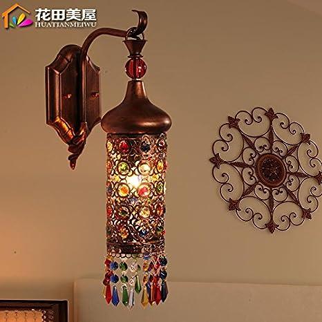 lfnrr bohemio Oriental Mediterráneo pared lámparas lámparas ...
