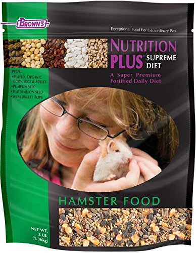F.M. Brown's Nutrition Plus Supreme Hamster Food, 3-Pound (Plus Hamster)