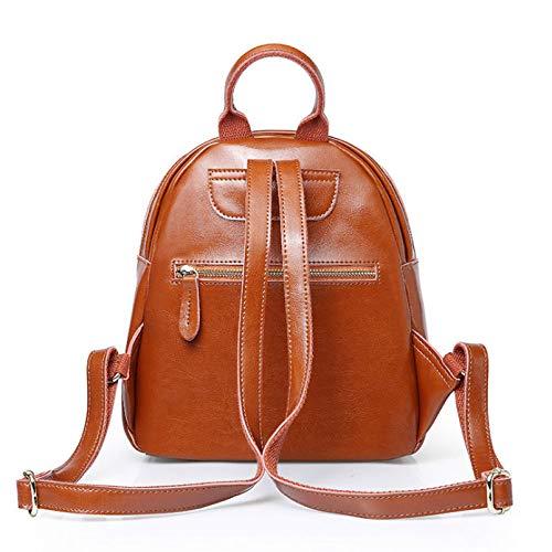 Marrone Girl's Nero College Borse Leather Daypacks tracolla Trip School Ethba Style a Backpack colore SqFfafp