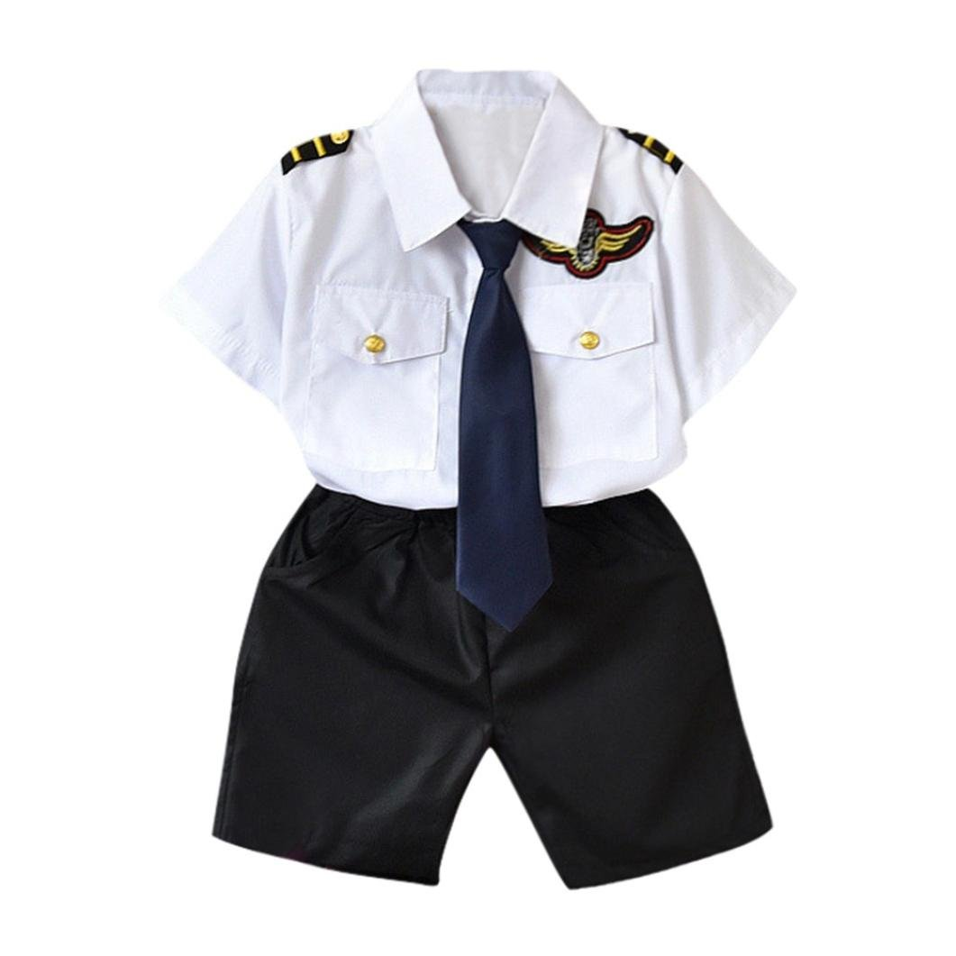 DIGOOD for 1-6 Years Old,Teen Toddler Baby Boys British Navy Tie Shirt+Shorts,Little Gentleman 2Pcs Outfits Clothes Sets