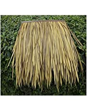 Simulation Thatch Tile Plastic Simulation Thatched Roof Waterproof Wooden House Pavilion Decorative Thatch Tile Decoration Fake Grass Tile Reed Size:2pcs(Color:Yellow A)