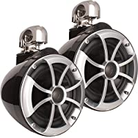 Wet Sounds 2) ICON 8 Swivel Clamp Tower Speakers -Pair Black