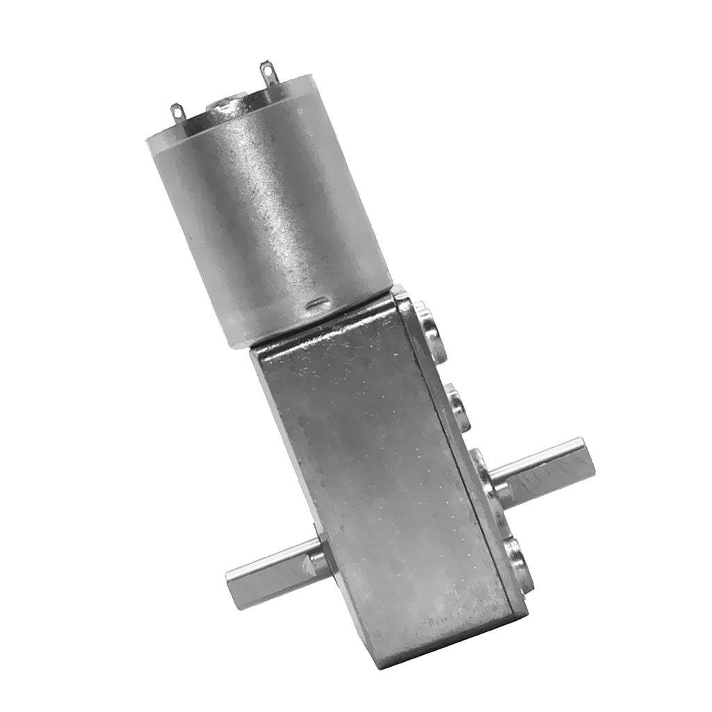 Jili Online High Torque Speed Reducer Gear DC Metal Motor with self-lock 12V 6rpm-90rpm - Silver, 10rpm