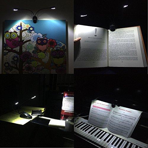 [해외]Lumiens L2 - 독서 용 램프에서 뮤직 스탠드 라이트 클립 - 4LED, 4 단계 밝기 - 깜박임 없음, 완전히 조절 가능, - 믹싱 테이블, DJ, O 용/Lumiens L2 - Music Stand Light Clip On Book Reading Lamp - 4LED, 4 Levels of Brightness - No Flicker...