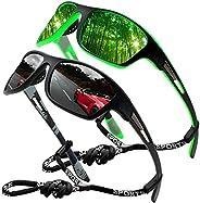 Sports Sunglasses Polarized Men Driving Cycling Fishing Running Sun Glasses UV400 Goggles Glasses rope