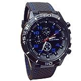 Winhurn Fashion Design Army Style Silicone Quartz Men Wrist Watch Sport