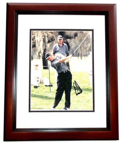 Autographed Els Picture - 8x10 MAHOGANY CUSTOM FRAME - PSA/DNA Certified - Autographed Golf Photos (Golf Autograph Certified Photo 8x10)
