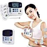 Toworld18 Dual Tens Machine Digital Electric Massage Massager Acupuncture pen XFT-320 Pads