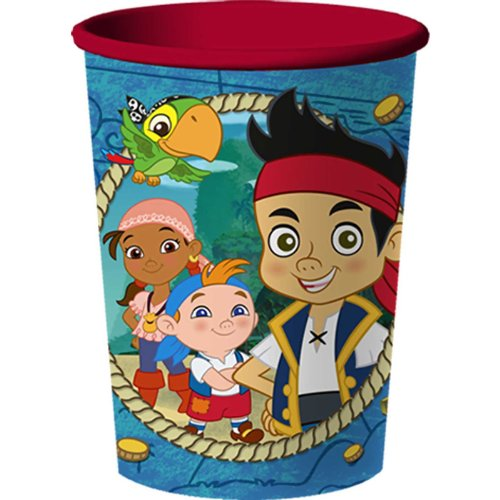 Disney Jake and The Never Land Pirates 16 oz Plastic Cup, Blue -