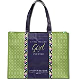 Steppin Out in Faith Psalm 37:23 Scripture Pocket Reusable Tote Bag