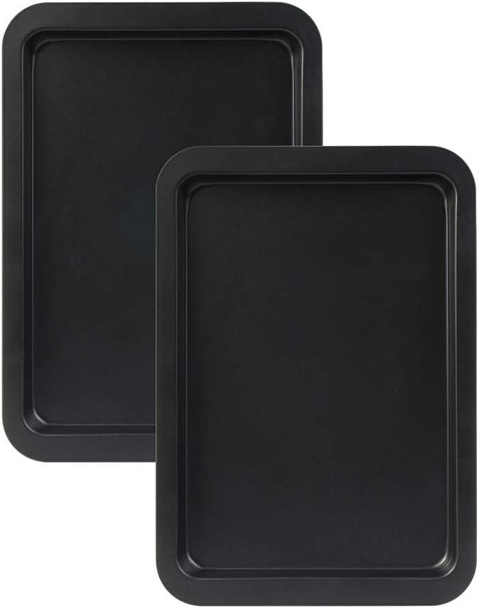 Baking Sheet Set of 2, SS&CC Professional 13x9 Inch Nonstick Sheet Pan Set, Dishwasher Safe, Carbon Steel Half Toaster Oven Pan Tray Replacement