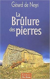 La brûlure des pierres, Négri, Gérard de