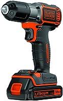 BLACK+DECKER ASD184K-QW Trapano Avvitatore Autosense, 18 V, Nero/Arancione