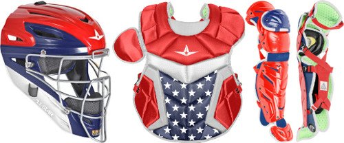 All Star System7 Axis Usa Pro Intermediate Catchers Set Red/White/Blue