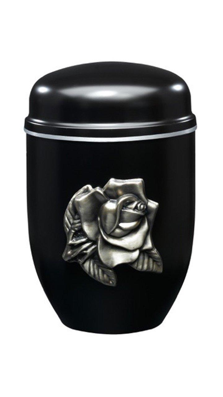 Urns UK Urne für Asche Asche Asche Metall Urne Stahl Erwachsene, Perth Schwarz Rose ebc9b1