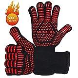 BBQ Gloves & Kitchen Oven Mitts, Extreme Heat Resistant Grill Gloves - EN407/EN420