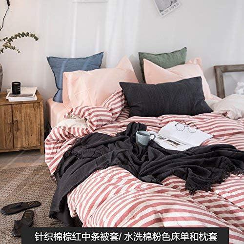 寝具布団カバー 綿の4ピースミックスとウォッシュ綿のシーツベッド寝具ベッドリネン、B、1.5M(5フィート)ベッド キルト掛け布団寝具セット