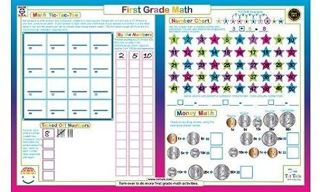 Amazon.com: Tot Talk First Grade Math Placemat: Toys & Games