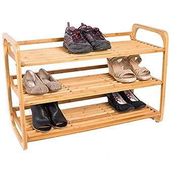 BirdRock Home 3 Tier Bamboo Shoe Rack | Environmentally Friendly | Fits 9 12 Good Ideas
