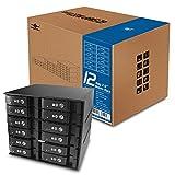 Vantec 12 x 2.5 Inches SAS/SATA SSD/HDD 3 Bay Aluminum Mobile Rack MRK-M2512T