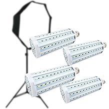 CanadianStudio Pro 4x 40 watt LED 5500K 144 pc LED/each Continuous Pure White Light Output (Lm) 3500 Light Bulb