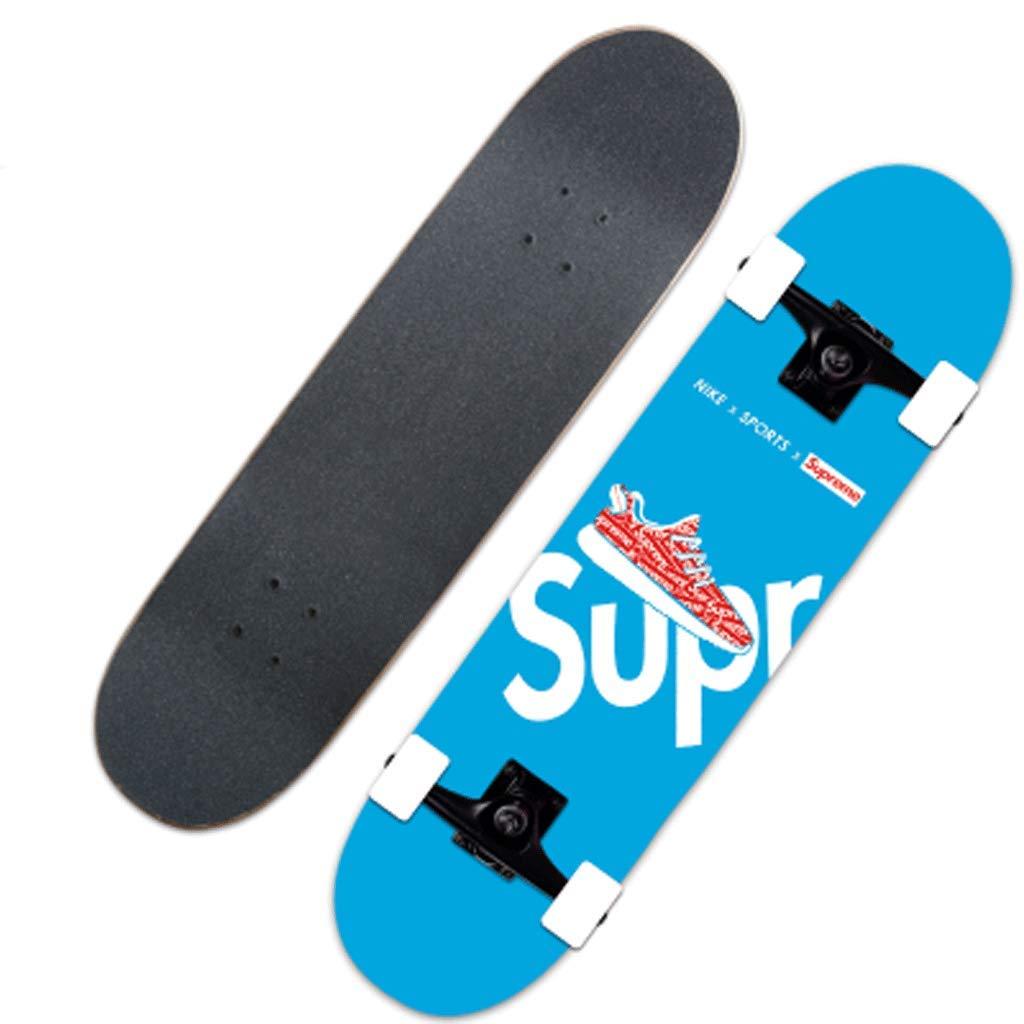 ショートボード初心者初心者スケートボード両側チルトストリートスキルスケートボード女性アダルトスケートボード 青 (色 : Pink) B07L5L6168 青 B07L5L6168 Pink) 青, Interiorshop COZY:2933f099 --- harrow-unison.org.uk