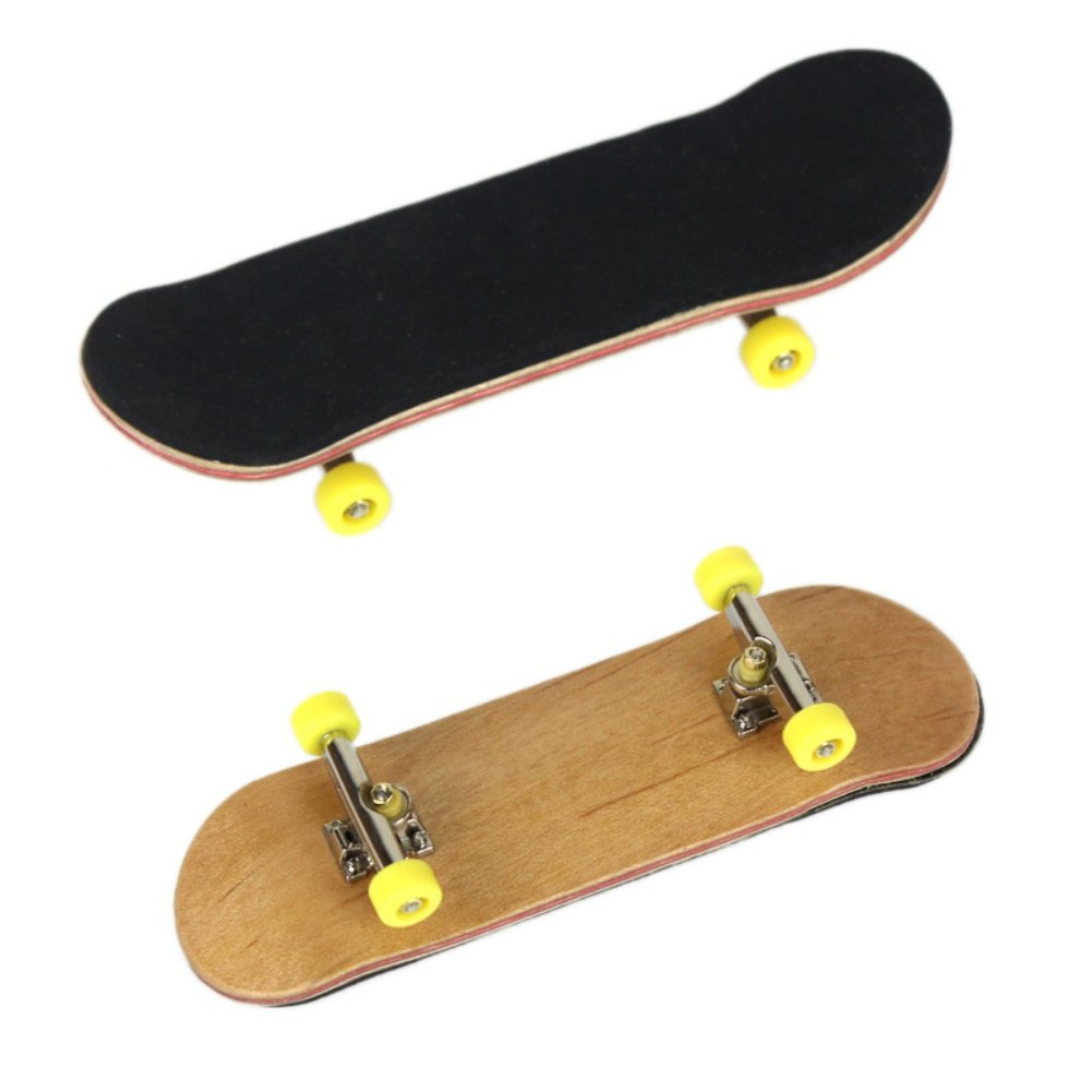 Professional Bearing Wheels Skid Pad Maple Wood Finger Skateboard Fingerboard Novelty Toys Facaily