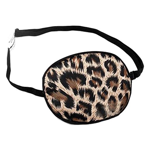 Adult Adjustable Silk Sleep Eye Patch for Lazy Eye Amblyopia Treatment Care For your Horizons,Brown Leopard Print