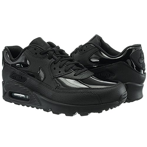 Femme Max WMNS 90 Black Gymnastique 002 de Leather Noir Chaussures Black Air black Nike q84xHwBx