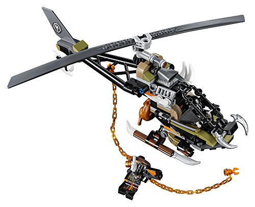 51KKRSkbz5L - LEGO NINJAGO Masters of Spinjitzu: Firstbourne 70653 Ninja Toy Building Kit with Red Dragon Figure, Minifigures and a Helicopter (882 Pieces)