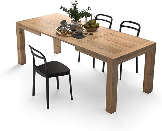 Mobili Fiver, Mesa de Cocina Extensible, Modelo Iacopo, Color Madera Rustica, 140 x 90 x 77 cm: Amazon.es: Hogar