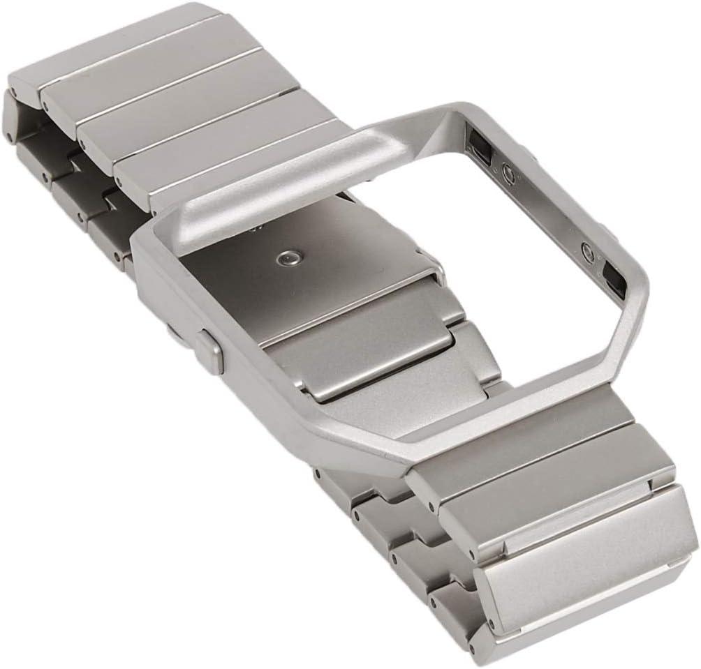 Standard Silver Metal Link Fitbit Blaze Accessory Band