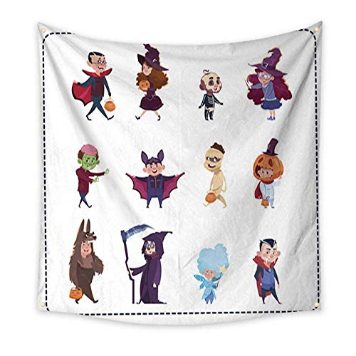Anniutwo Tapestry Colorful Cute Kids Wear Monsters Costumes